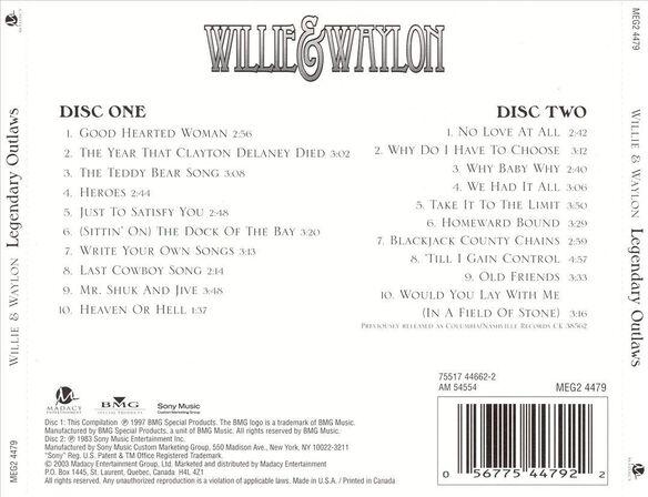 Waylon & Willie:Legendary