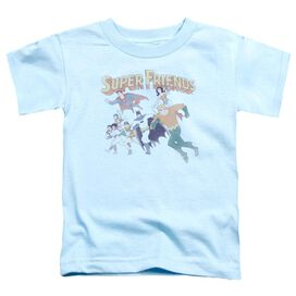 Dc Super Friends Short Sleeve Toddler Tee Light Blue Sm T-Shirt
