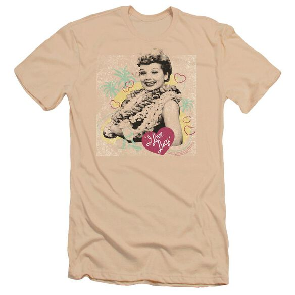 I Love Lucy Luau Graphic Premuim Canvas Adult Slim Fit