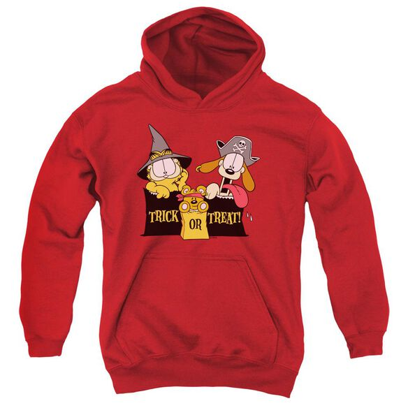Garfield Trick Or Treat Youth Pull Over Hoodie