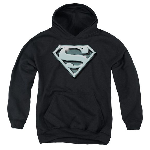 Superman Chrome Shield Youth Pull Over Hoodie