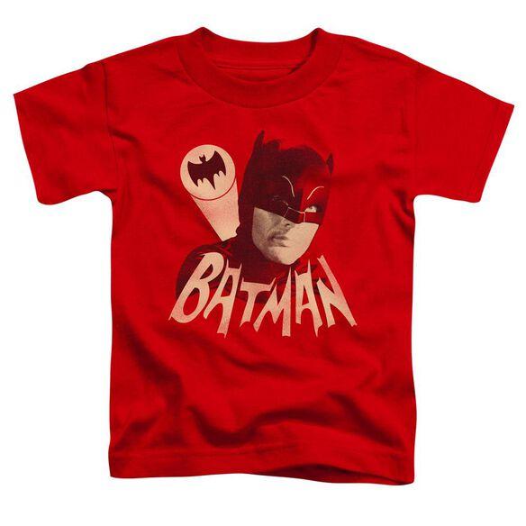Batman Classic Tv Bat Signal Short Sleeve Toddler Tee Red T-Shirt