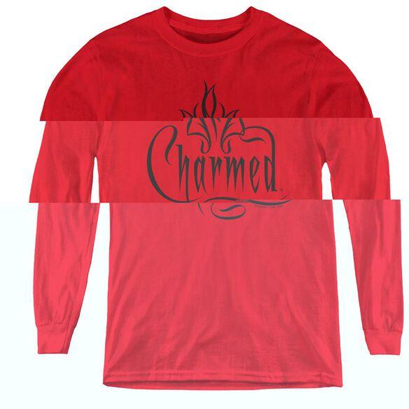 Charmed Charmed Logo - Youth Long Sleeve Tee - Red