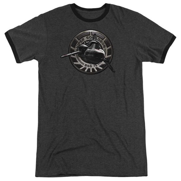 Bsg Viper Squadron Adult Heather Ringer Charcoal