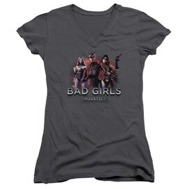 Injustice Gods Among Us Bad Girls Junior V Neck T-Shirt