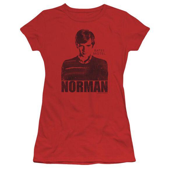 Bates Motel Norman Short Sleeve Junior Sheer T-Shirt