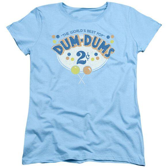 Dum Dums 2 Cents Short Sleeve Womens Tee Light T-Shirt