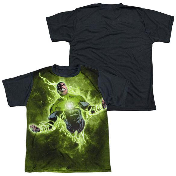 Green Lantern Inner Strength Short Sleeve Youth Front Black Back T-Shirt