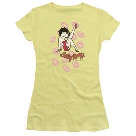 BETTY BOOP KISSES - S/S JUNIOR SHEER T-Shirt