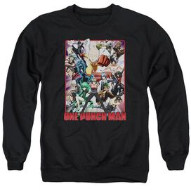One Punch Man Cast Of Characters Adult Crewneck Sweatshirt