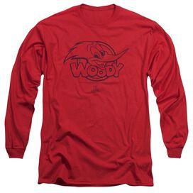 Woody Woodpecker Big Head Long Sleeve Adult T-Shirt