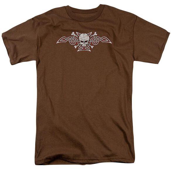Celtic Skull & Bones Short Sleeve Adult Coffee T-Shirt