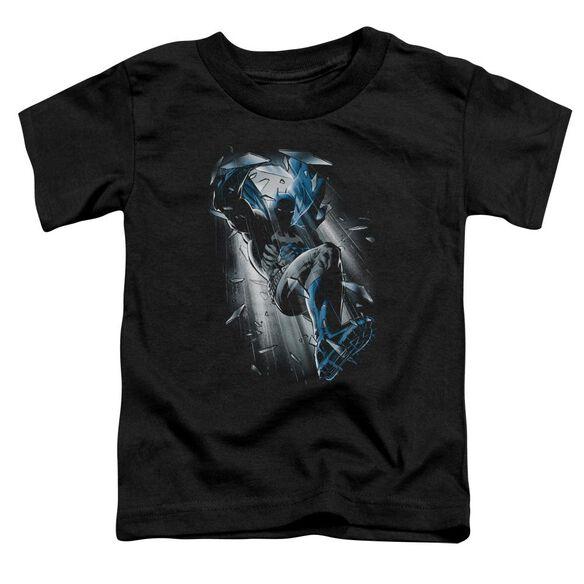 Batman Bat Crash Short Sleeve Toddler Tee Black Sm T-Shirt