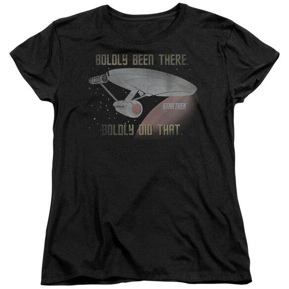 Star Trek Boldly Did That Short Sleeve Womens Tee T-Shirt