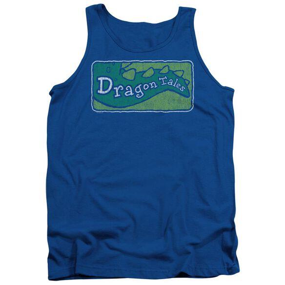 Dragon Tales Logo Distressed Adult Tank Royal