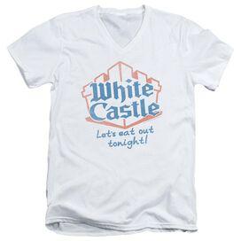 WHITE CASTLE LETS EAT - S/S ADULT V-NECK 30/1 T-Shirt