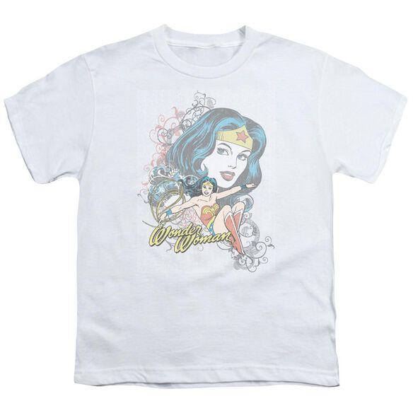 Dc Wonder Scroll Short Sleeve Youth T-Shirt