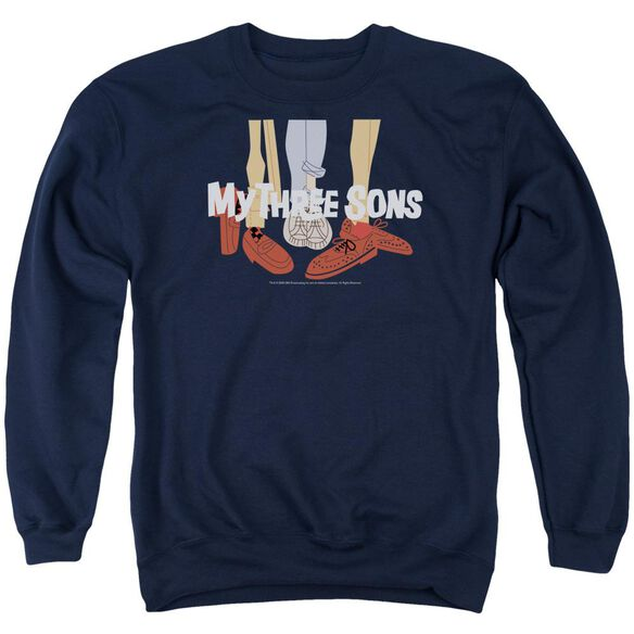 My Three Sons Shoes Logo Adult Crewneck Sweatshirt