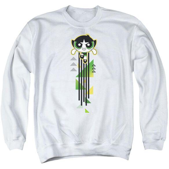 Powerpuff Girls Buttercup Streak Adult Crewneck Sweatshirt