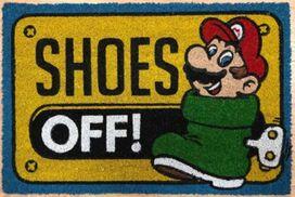 Super Mario Shoes Off Doormat