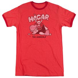 Hagar The Horrible Hagar Gulp Adult Heather Ringer Red