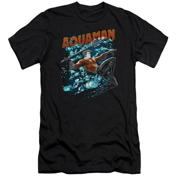 Jla Aqua Bubbles Short Sleeve Adult T-Shirt