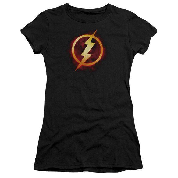 Jla Flash Title Short Sleeve Junior Sheer T-Shirt