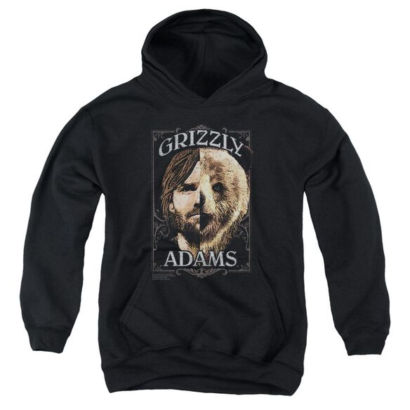 Grizzly Adams Half Bear Youth Pull Over Hoodie