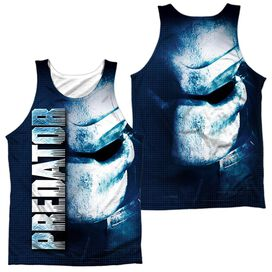 Predator Mask (Front Back Print) Adult 100% Poly Tank Top