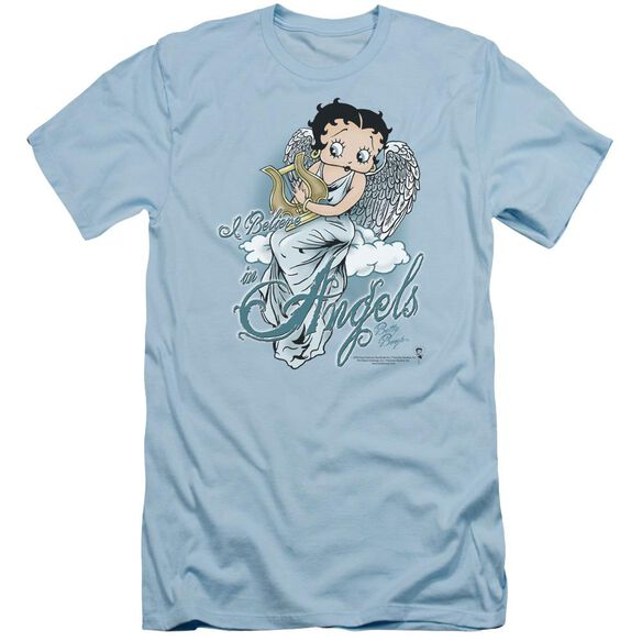 Betty Boop I Believe In Angels Short Sleeve Adult Light T-Shirt
