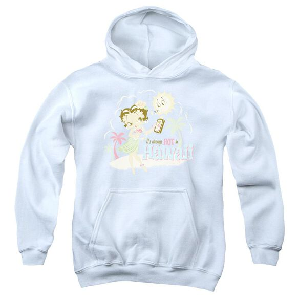 Betty Boop Hot In Hawaii Youth Pull Over Hoodie