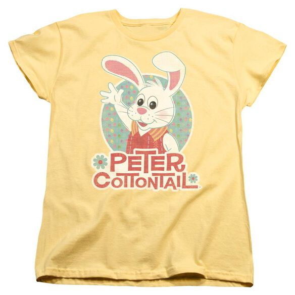 Here Comes Peter Cottontail Peter Wave Short Sleeve Womens Tee T-Shirt