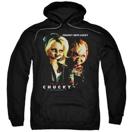 BRIDE OF CHUCKY CHUCKY GETS LUCKY - ADULT PULL-OVER HOODIE - Black
