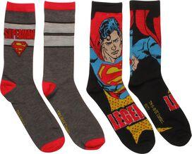 Superman Legend 2 Pack Crew Socks Set