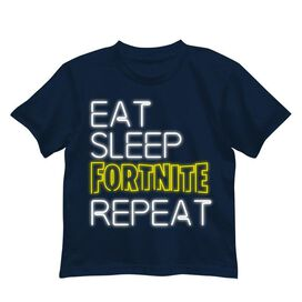 Fortnite Eat, Sleep, Fornite, Repeat Kids T-Shirt