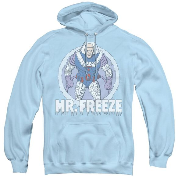 Dc Mr Freeze - Adult Pull-over Hoodie - Light Blue