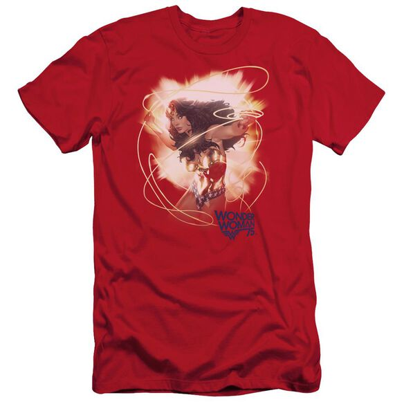 Wonder Woman 75 Th Burst Hbo Short Sleeve Adult T-Shirt