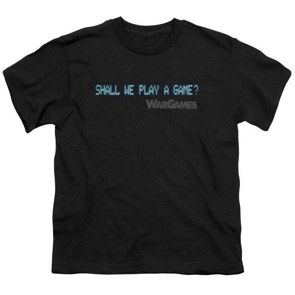 Wargames Shall We Short Sleeve Youth T-Shirt