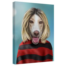 Pets Rock Grunge Canvas Wall Art With Back Board