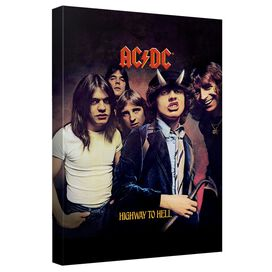 Acdc Highway Canvas Wall Art With Back Board