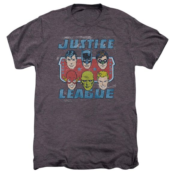 Dc Faces Of Justice Short Sleeve Adult Premium Tee Moth T-Shirt