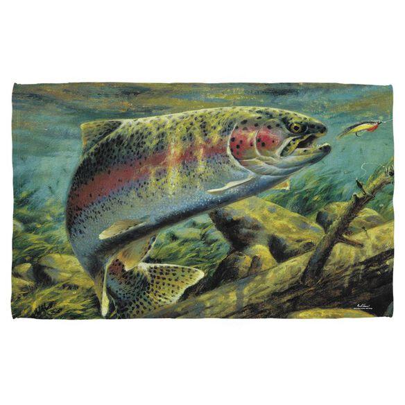 Wild Wings Rainbow Trout 2 Golf Towel W Grommet