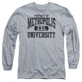 Superman Property Of Mu Long Sleeve Adult Athletic T-Shirt