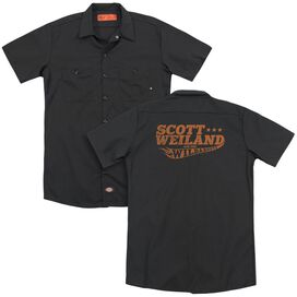 Scott Weiland Logo(Back Print) Adult Work Shirt