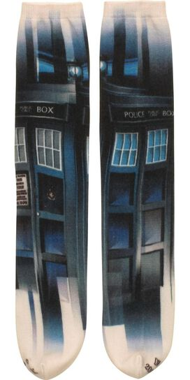 Doctor Who TARDIS Sublimated Crew Cut Socks