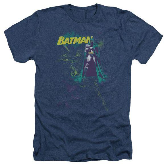 Batman Bat Spray - Adult Heather - Navy