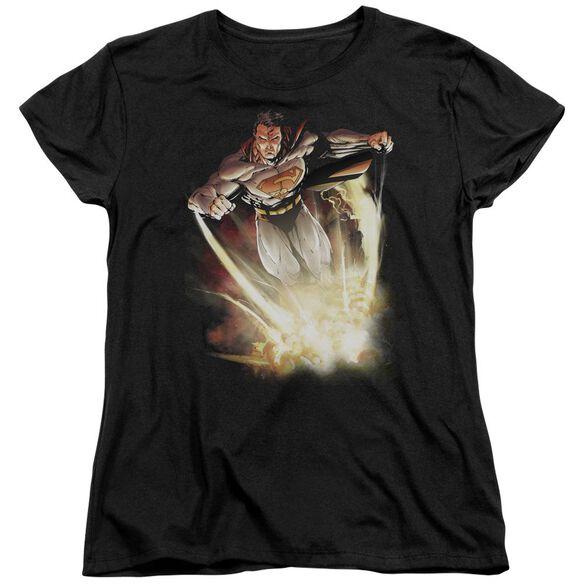 SUPERMAN EXPLOSIVE - S/S WOMENS TEE - BLACK T-Shirt
