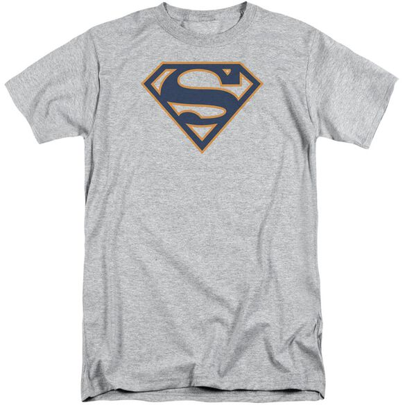 Superman Navy & Orange Shield Short Sleeve Adult Tall Athletic T-Shirt