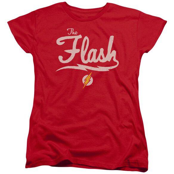 Jla Old School Flash Short Sleeve Womens Tee T-Shirt