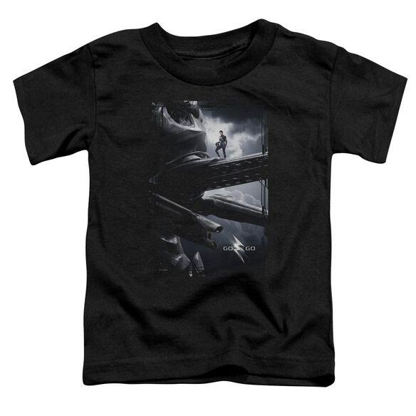 Power Rangers Black Zord Poster Short Sleeve Toddler Tee Black T-Shirt